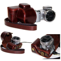 PU Leather Camera Case Bag Leather Case Cover for Digital Camera Sony NEX-5R NEX-5T NEX-5N