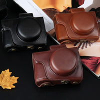 PU Leather Camera Case Bag Cover For Olympus OM-D E-M10 EM10 Mark II III E-M5 EM5 II E-PL5 E-PL6 E-PL7 E-PL8 EPL5 EPL6 EPL7 EPL8