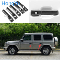 for Mercedes Benz G Class W463 W464 2009-2019 Auto Exterior Carbon Fiber Made Door Handle Cover Sticker Decorations Overlay Trim