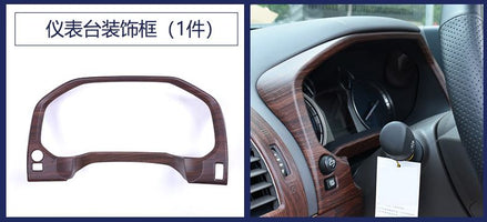ABS chrome Car Accessories INNER DASHBOARD CONSOLE PANEL COVER TRIM GARNISH MOLDING For Toyota land cruiser prado 150 FJ150 2018