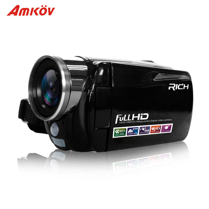 Portable Infrared Video Camera 1080P HD 16x Zoom 3.0'' TFT LCD Digital Video Camcorder