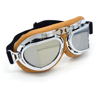 Evomosa Silver Lens Retro Motorcycle Goggles Motocross Moto Cross Glasses Country Flexible Cycling Sport Eye Helmets