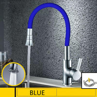 Silica Gel Nose Any Direction Rotating Kitchen Faucet Cold and Hot Water Mixer Torneira Cozinha