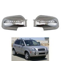 Novel style Car accessories 2PCS for Hyundai Tucson 2006 2007 2008 2009 ABS Chrome plated  door mirror covers with LED