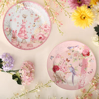 British Pastoral Bone China Plates Dinner Plate Steak Ceramic Tray Cake Dishes Pastry Fruit Dish Tableware Porcelain Dinnerware