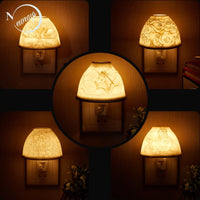 Nordic art relief aromatherapy LED wall lamp EU/ US  plug romance home decoration bedroom bedside indoor living room scene lamp