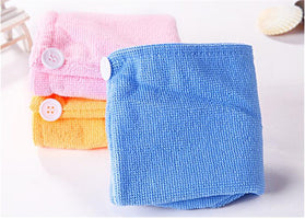 5Pcs/lot Home Textile Solid Hair Turban Thicken Quickly Microfiber Dry Hair Hat Wrapped Towel Bath Shower Cap Bathroom Supplies