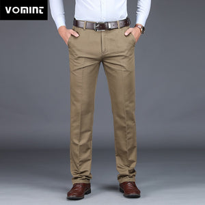 VOMINT 2020 Mens Suit pants Fashion Stretch Slim Straight Men Pant Anti Wrinkle Casual Business Quality Trousers Male Winter