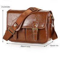 Retro PU Leather Waterproof DSLR SLR Camera Case DV Shoulder Bag For Nikon Canon Sony Casual fashion Bags