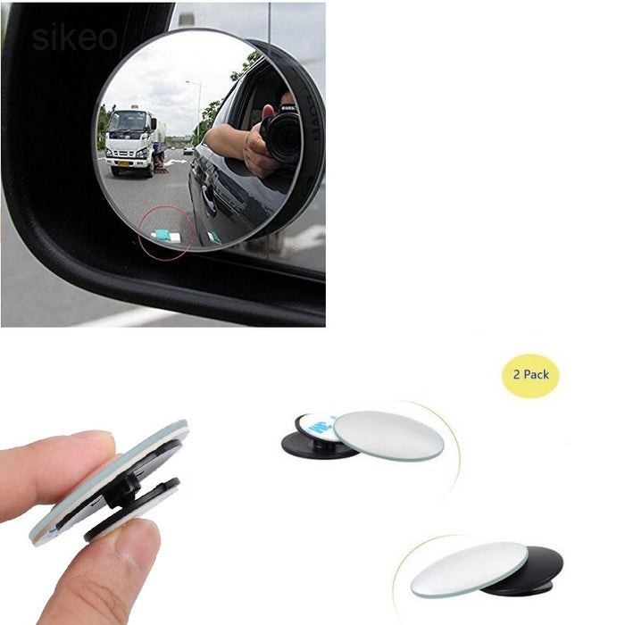 1 piece 360 Degree Blind Spot Car Convex Mirror Wide Angle Round Rearview Mirror