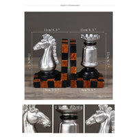 Europe Retro Creative Bookends Figurines Resin Chess Model Book Stand Ornaments Home Office Study Bookshelf Decor Birthday Gifts