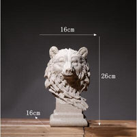 Europe Office Desktop Sulpture Art Home Furnishing Decoration Resin Animal Statues Livingroom Handicrafts Crafts Retro Ornaments