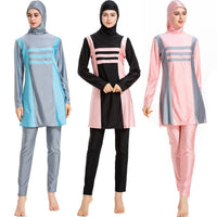 2019 Burkini muslim swimwear long sleeve Bathing Suit With Cap Printing Swimsuit Beachwear Women Swimwear islamic ladies