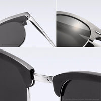 VEITHDIA Retro Unisex Aluminum Magnesium Mens Sunglasses Polarized Vintage Eyewear Accessories Sun Glasses For Men Women 6690