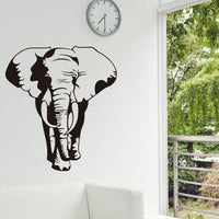 3D Creative African Elephant Wall Sticker Animal Wall Posters Room Accessories Home Decor Decoration Adesivo De Parede Murals