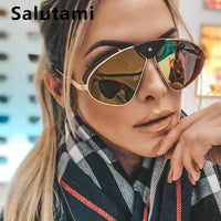 Polarized Men Sunglasses 2019 New Luxury Brand Pu Leather Frame Sunglasses Women Vintage Punk Mirror Sun Glasses Chic Shades