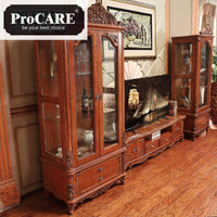American Style Wine Cabinet Solid Wood Carving Single And Double Doors Living Room Restaurant Decoration Cabinet Glass Storage
