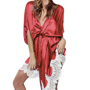szlafrok Wedding Bride Bridesmaid Robe Satin Bathrobe Nightgown For Women Kimono