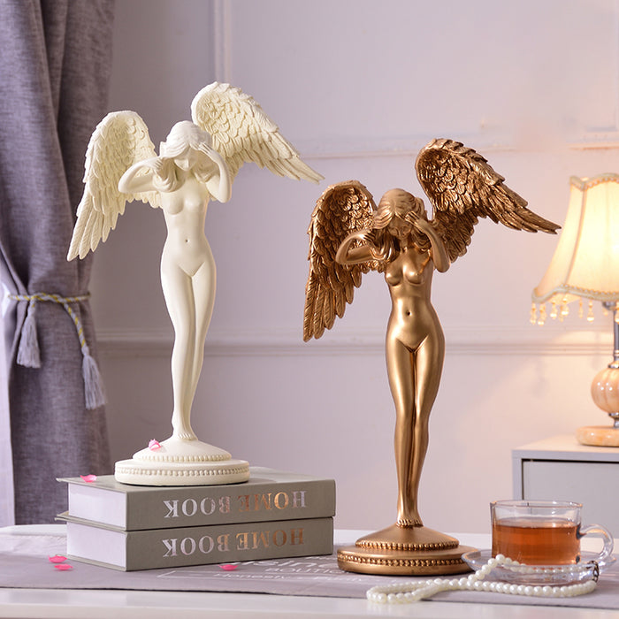 European Creative Figurines Statues Beauty Angel Sculpture Home Furnishing Decoration
