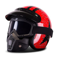 New Motorcycle Helmet Retro Vintage Synthetic Casco Moto Cruiser Chopper Scooter Cafe Racer 3/4 Open Face Helmet DOT Casco Moto