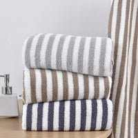 Beroyal 2019 100% Cotton Terry Beach Towels Super Absorbent Bath Towel for Adults Large Bathroom Body Spa Sports Stripe 140x70cm