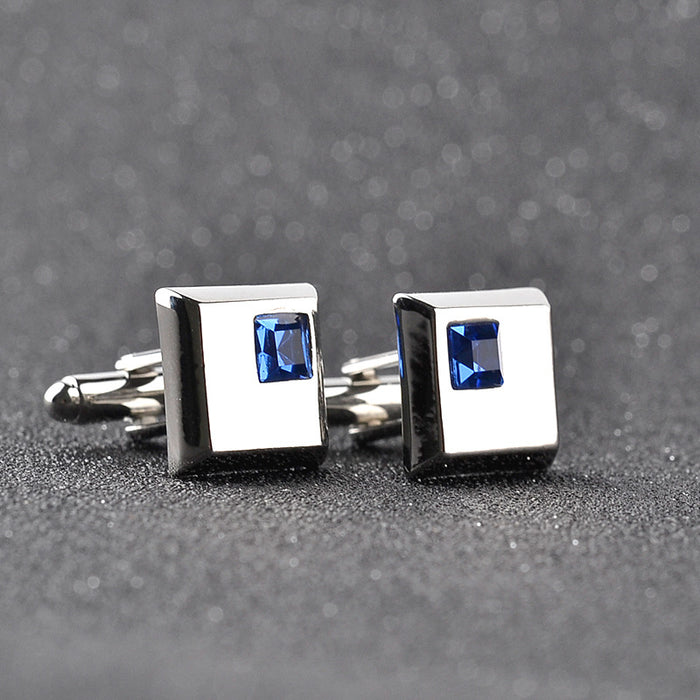 2 Color high quality fashion male French shirt cufflinks Brand cuff buttons square wedding party