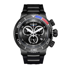 Reef Tiger/RT Luxury Sport Watches for Men Rubber Strap Steel Military Watches Waterproof Quartz Watches RGA3168