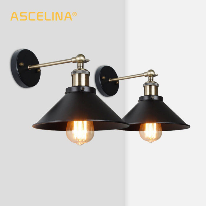 Industrial Wall Lamp Vintage wall Light LED retro lamp brace for living room bedroom