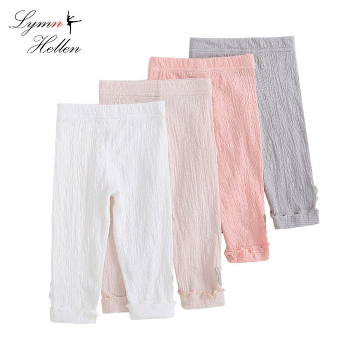 2018 Summer Elestic Waist Children Kids Pants Baby Girl Candy Color Solid Color Causal Pants