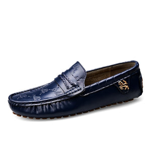 Big Size 37~49 High Quality Genuine Leather Men Shoes Soft Moccasins Loafers Fashion Brand Men Flats Comfy Driving Shoes