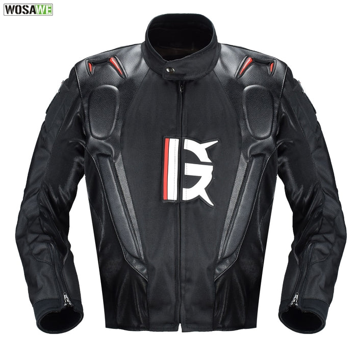Motorcycle Leather Jacket Armor Oxford Cloth 600D Racing Jacket Body Protection Equipment