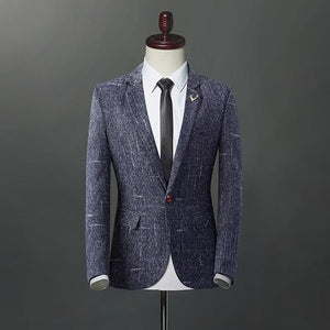 2020Fashion New Men's Casual Boutique Business One Button Suit / Male Slim Blazer Jacket Coat