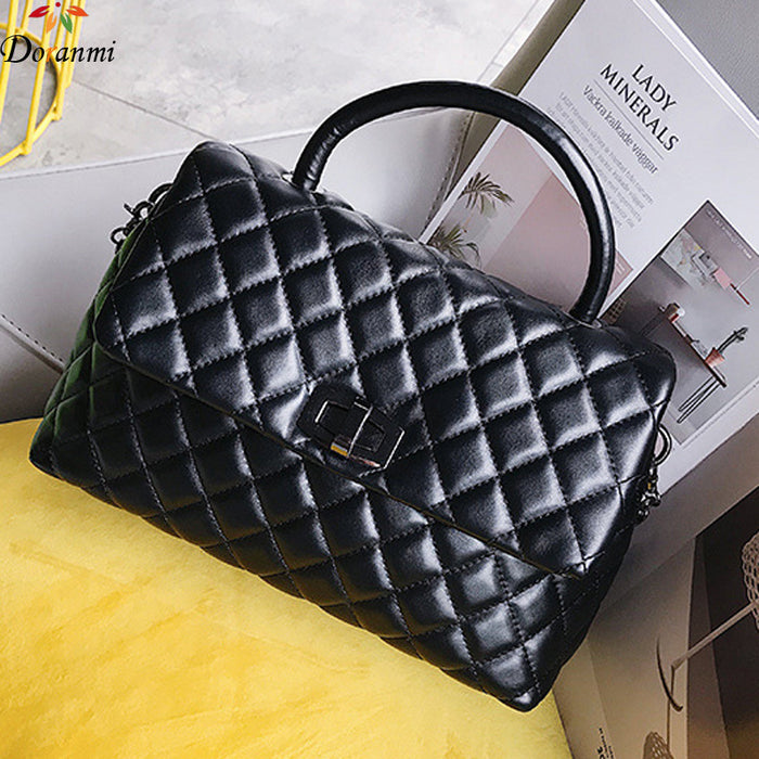 DORANMI Diamond Lattice Handbag Bags For Women 2019 Luxury Brand Designed Chic Top-handle