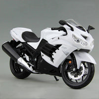 MAISTO KWSK ZX-14R Ninja White ZX14R 1:12 scale Motorcycle Diecast Metal Bike Miniature Race Toy For Gift Collection