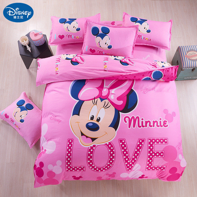 Minnie Mouse Bedding Set Cover Pillowcase Quilt Mickey Mouse Cartoon C Jyards