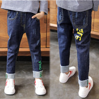 2019 new boy jeans plus velvet padded children pants trousers in autumn and winter Korean