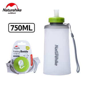NatureHike 750ML Sport Bottle Water Bottles Outdoor Cup Portable Silicone Folding Drinkware