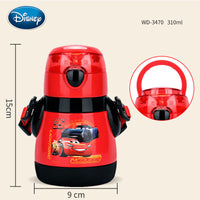Disney Children's Straw Insulation Cup Leakproof Mickey Stainless Steel Cup Child Cup Portable Baby Learning Drinking Cup