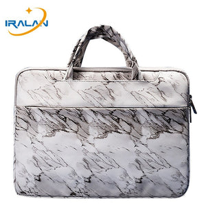 Marble PU Leather Handbag Laptop Bag For Macbook Air Retina 11 12 13 15 14 15.6 Notebook Case For Xiaomi Pro 15.6 Portable Cover
