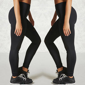 Black Mesh Patchwork Sport Leggings Women Yoga Running Pants Ladies Gym Sportwear Breathable Quick Dry Fitness Tights
