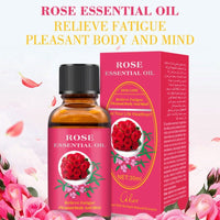 Rose/Lemon/Ginger Essential Oil Natural Plant l 30ml Therapy Lymphatic Detox Oil Natural Anti-Aging Body Massage Oi UZ85