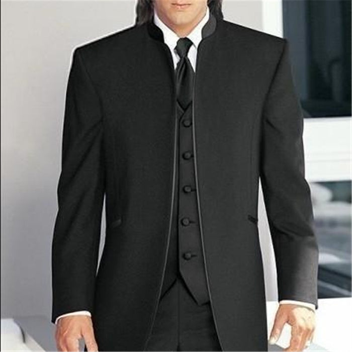 Suits Custom Made Groom Tuxedos Best Male Formal Suit (Jacket+Pants+Vest+Tie) terno masculino
