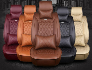 custom cowhide Leather car seat cover for Toyota Prius Venza Corolla RAV4 Camry Estima Previa Land Cruiser Prado Fortuner stylin