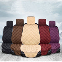 Universal Plush Car Seat Cover Winter Warm Auto Front Back Rear Backrest Seat Cushion Pad Interior Accessories Protector