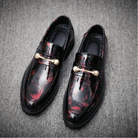 Men Driving Moccasins Comfortable Slip on Fashion Shoes Men Casual shoes breathable Leather Loafers Office Driving Shoes A51-73