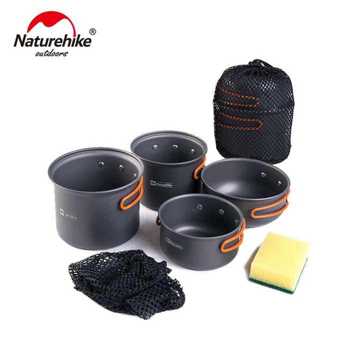 Naturhike -New Ultralight Outdoor Camping Cookware Utensils Four Combination Cookware