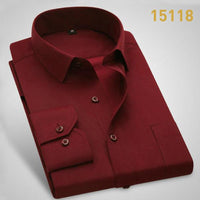 DAVYDAISY 2020 New Arrival Men Shirt Long Sleeve Twill Solid Striped Dress Business Shirt Slim Fit Man Dress Shirts DS258