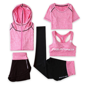 2018 New Women Sport Suit Traceless Yoga Clothing Solid Fitness Wear Female Elastic Gym