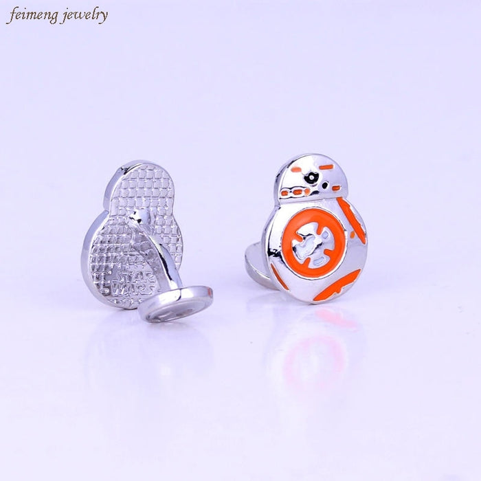 Men Shirt Cuff Links Movie starwars cufflinks High Quality Force Awakens BB8 BB-8 Droid Robot