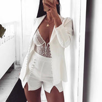 Cryptographic deep V fashion lace sexy bodysuit women patchwork mesh transparent female jumpsuit slim body mujer hot catsuit